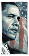 Barack Obama Artwork 2 B Beach Towel