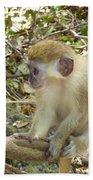 Barbados Green Monkey Beach Towel