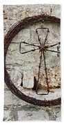 Barbed Wire Cross Beach Towel