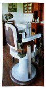Barber - Barber Chair And Cash Register Beach Towel