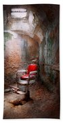 Barber - Eastern State Penitentiary - Remembering My Last Haircut  Beach Sheet