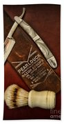 Barber - Tools For A Close Shave  Beach Towel