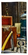 Barber - Vintage Barber Tools  Beach Towel