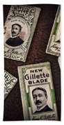 Barber - Vintage Gillette Razor Blades Beach Towel