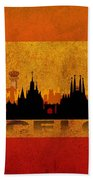 Barcelona City Beach Towel