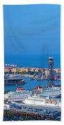Barcelona Panorama Beach Towel