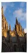 Barcelona's Marvelous Architecture - Cathedral Of The Holy Cross And Saint Eulalia Beach Towel