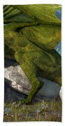 Bard And Dragon Beach Towel by Daniel Eskridge