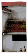 Barn - Geometry - Red Roof Beach Towel