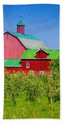 Barn And Apple Orchard Beach Towel