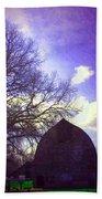Barn And Oak Digital Painting Beach Towel