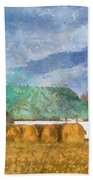 Barn And Silo In West Virginia Beach Towel