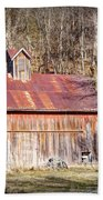 Barn By The Bluffs Beach Towel