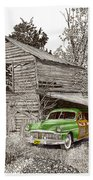 Barn Finds Classic Cars Beach Towel