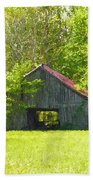 Barn From The Forgotten Farm Beach Towel