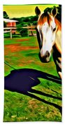 Barn Horse Beach Towel