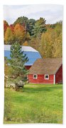 Barn In Autumn Beach Towel