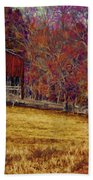 Barn In The Woods-featured In Barns Big And Small Group Beach Towel