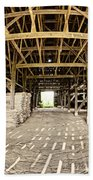 Barn Interior Beach Towel