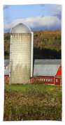 Barn On The River Rd. Beach Towel