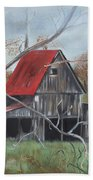 Barn - Red Roof - Autumn Beach Towel