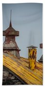 Barn Roof In Color Beach Towel