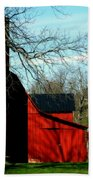 Barn Shadows Beach Towel