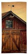 Barn With Weathervane Beach Towel by Jill Battaglia