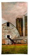 Barns In The Country Beach Towel