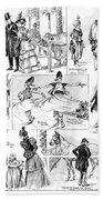 Barnum And Bailey, 1898 Beach Towel