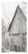 Barnyard Snowfall Beach Towel