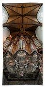Baroque Grand Organ In Oude Kerk Beach Towel
