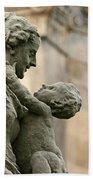 Baroque Statue Depicting Motherhood Beach Towel