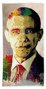 Barrack Obama Beach Towel