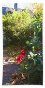 Bartram Red Flowers Beach Towel