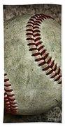 Baseball - A Retired Ball Beach Towel