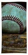 Baseball Broken In Beach Towel by Paul Ward