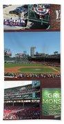 Baseball Collage Beach Towel