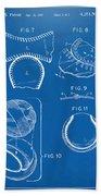 Baseball Construction Patent 2 - Blueprint Beach Towel