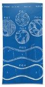 Baseball Construction Patent - Blueprint Beach Towel by Nikki Marie Smith