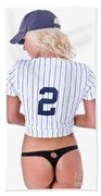 Baseball Girl 2 Beach Towel