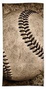 Baseball Old And Worn Beach Towel by Paul Ward