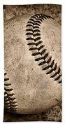 Baseball Old And Worn Beach Towel