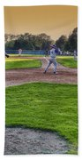 Baseball On Deck Circle Beach Towel