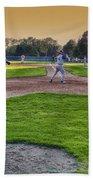 Baseball On Deck Circle Beach Sheet