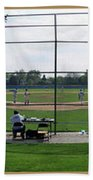 Baseball Playing Hard 3 Panel Composite 01 Beach Towel