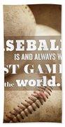 Baseball Print With Babe Ruth Quotation Beach Sheet