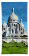 Basilica Sacred Heart- Paris Beach Towel