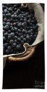 Basket Full Fresh Picked Blueberries Beach Sheet