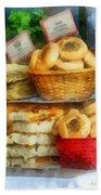 Basket Of Bialys Beach Towel